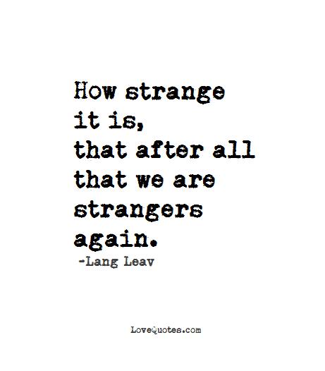 Strangers-Again
